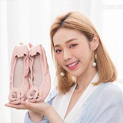 經典山茶花柔軟娃娃鞋