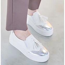 正韓英倫牛津流蘇懶人鞋