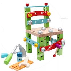 彩色木工DIY魯班椅