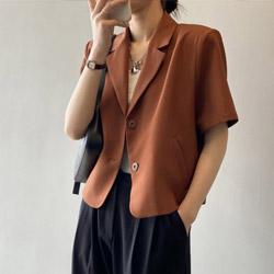 翻領時尚西裝小外套(4色)