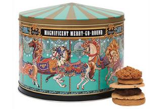 Merry-go-round biscuit tin