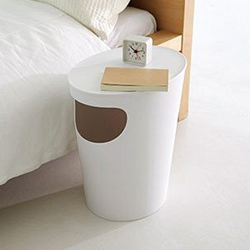現代家具概念邊桌+垃圾桶二合一