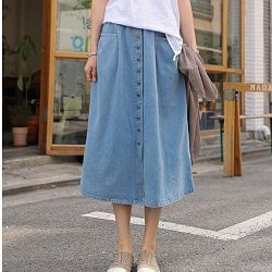 正韓質感口袋褲裙