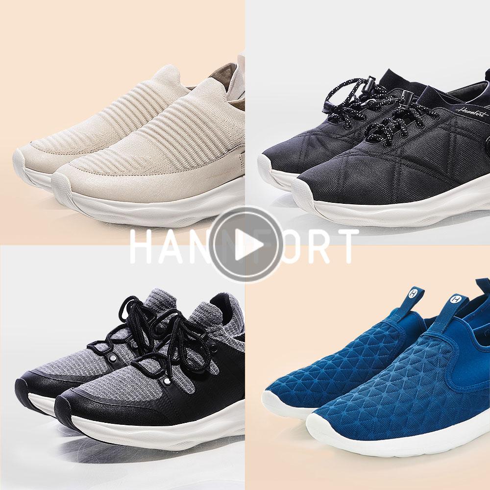 HANNFORT立體編織橫紋跑鞋