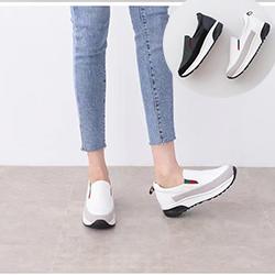 正韓 氣墊簡約款厚底懶人鞋