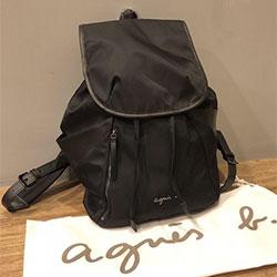 日本agnes b尼龍後背包