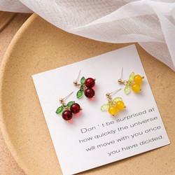 甜美可愛櫻桃造型耳環