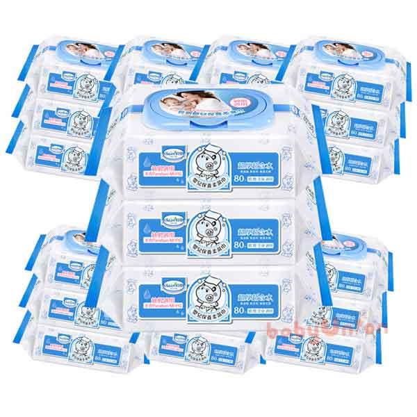 Baan貝恩-全新配方 嬰兒柔濕巾80抽 24包/箱