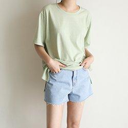 2件免運-正韓夏季染色棉質舒適上衣