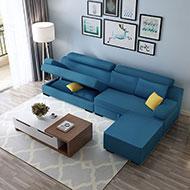 特倫斯L型獨立筒布沙發