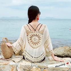 民族風鉤花罩衫