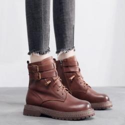 真皮馬丁靴