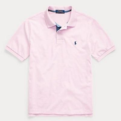 POLO小馬polo衫青年款粉色