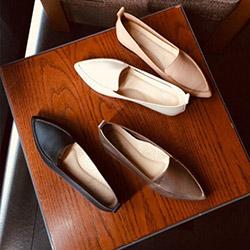 軟皮尖頭鞋