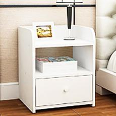 北歐簡約純白色床頭櫃