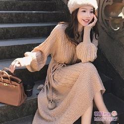 法式麻花針織洋裝