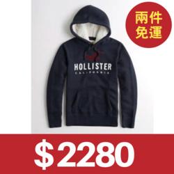 Hollister車繡貼布熊寶寶帽T
