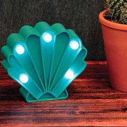 復古扇貝殼造型小夜燈