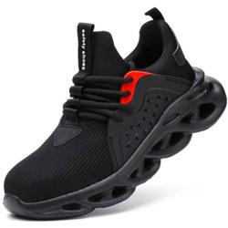 運動鋼頭防護鞋~(有鋼頭.有防穿刺)~輕便時尚款