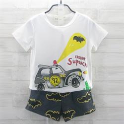 警車抓蝙蝠T恤+蝙蝠棉短褲(套裝)