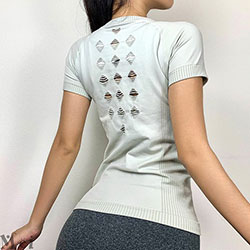 圓領鏤空顯瘦運動T恤【3色S~L】