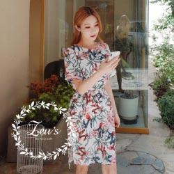 韓國夏日氣質休閒開衩洋裝