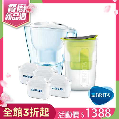 愛奴娜3.5L濾水壺+2入濾芯+酷樂壺