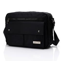經典質感雙層收納側背包