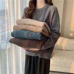 慵懶風加厚舒適寬鬆毛衣