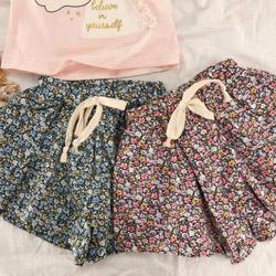 小花花涼感裙褲