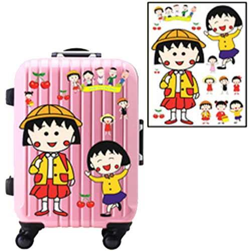 超大卡通行李箱防水貼