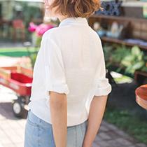 東京著衣-多色悠閒假期綁結襯衫(180380)