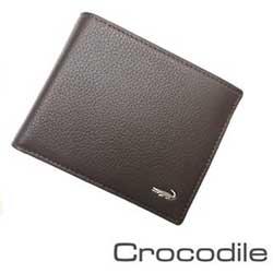 Crocodile牛皮男用短皮夾