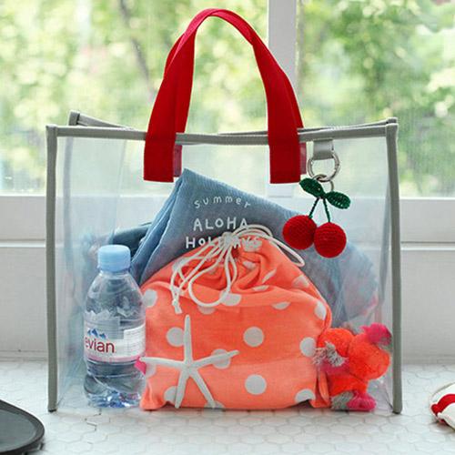 PVC透明防水大容量手提袋