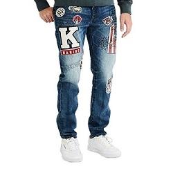 AE聯名凱斯哈林塗鴉刺繡牛仔褲