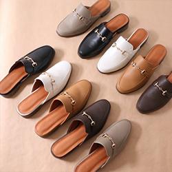 低跟方頭穆勒鞋