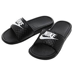 NIKE Wmns Benassi JDI 黑白運動拖鞋