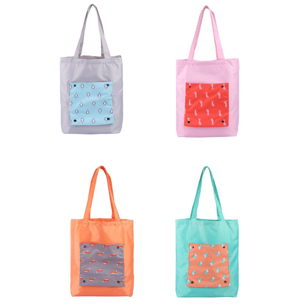 韓版防水折疊單肩包購物袋
