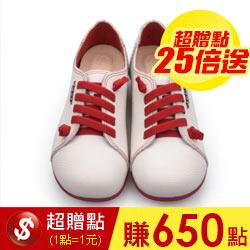 紅白氣墊超軟饅頭鞋