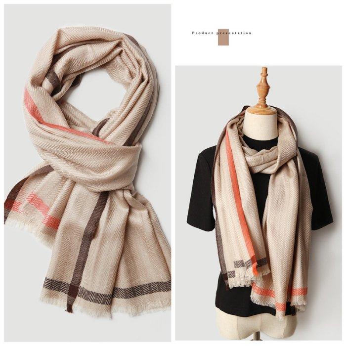 柔軟不扎 絲光羊毛光澤亮麗圍巾