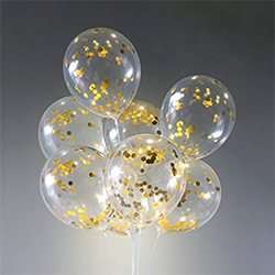Gold Confetti Balloons (20-Pack)