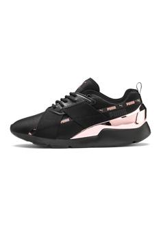 PUMA-Muse X-2 Metallic 女性復古休閒鞋-黑色