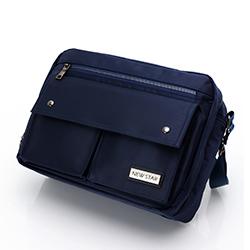 質感金屬雙層側背包