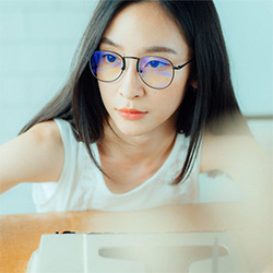 韓款流行黑色細框眼鏡