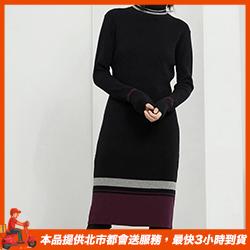 長袖針織洋裝