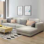 莉亞L型獨立筒布沙發