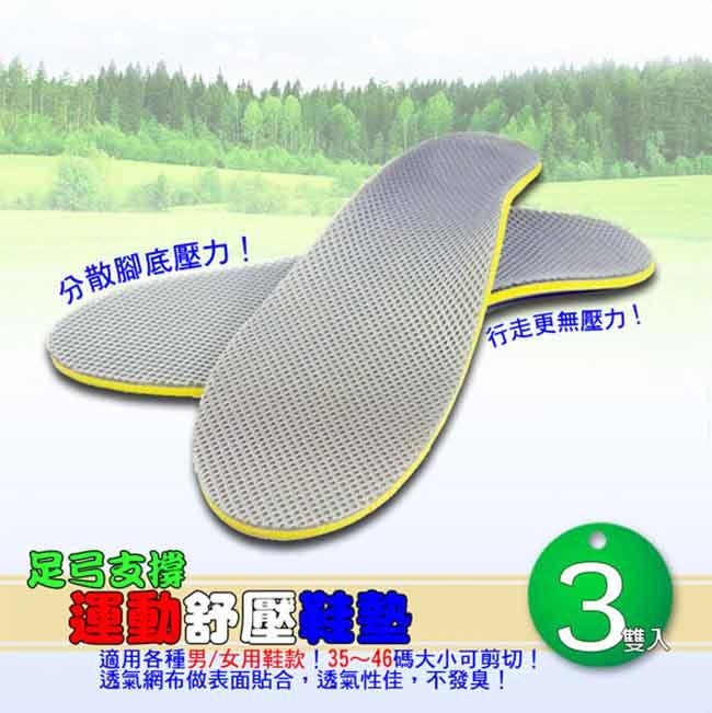 足弓支撐運動舒壓鞋墊