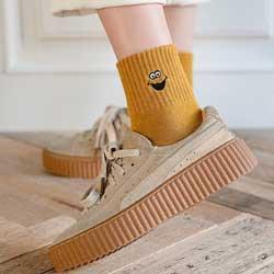 日韓可愛中筒潮襪