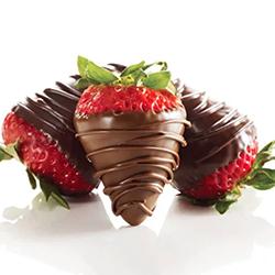 Milk and Dark Chocolate Dipped Stawberries