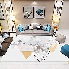 幾何圖紋地毯